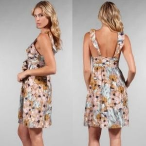 Theory | Abstract Floral  100% Silk Dress | 6